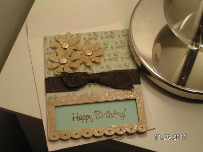 Vintage Looking Birthday Card